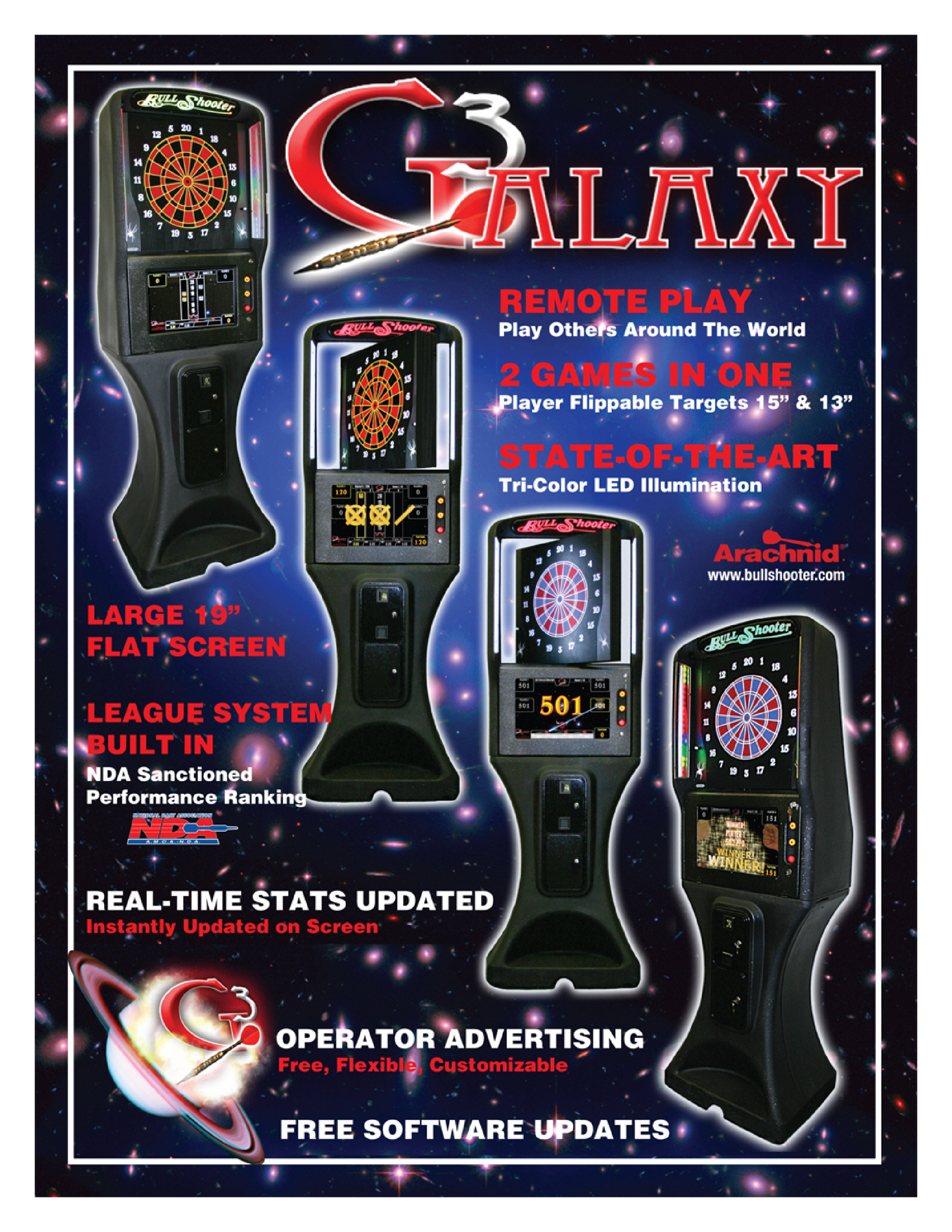 galaxy 3 dartboard galaxy dart boards detroit area pool darts golden tee and entertainment at union